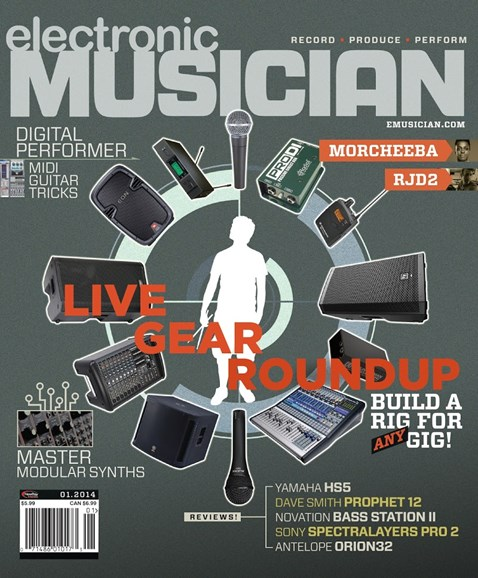 Electronic Musician Cover - 1/1/2014