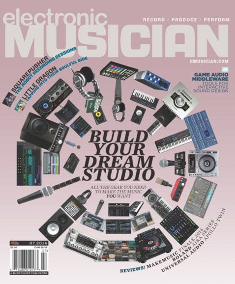 Electronic Musician Cover - 7/1/2014