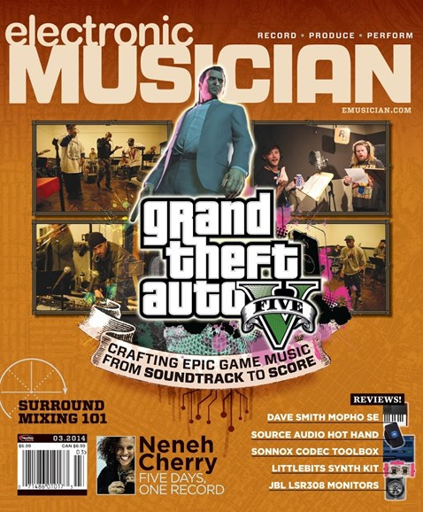 Electronic Musician Cover - 3/1/2014