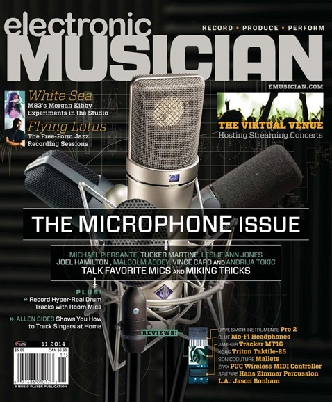 Electronic Musician Cover - 11/1/2014