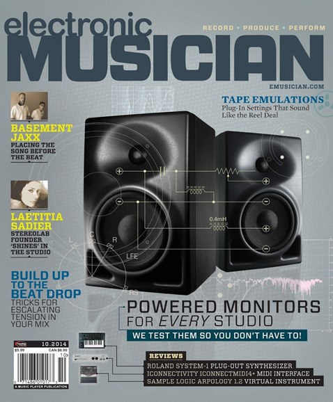 Electronic Musician Cover - 10/1/2014