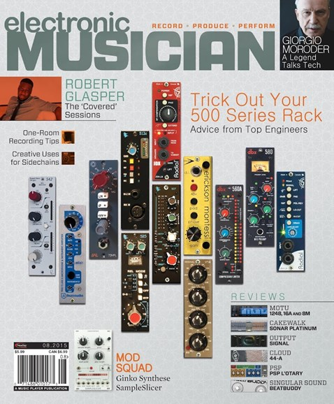 Electronic Musician Cover - 8/1/2015