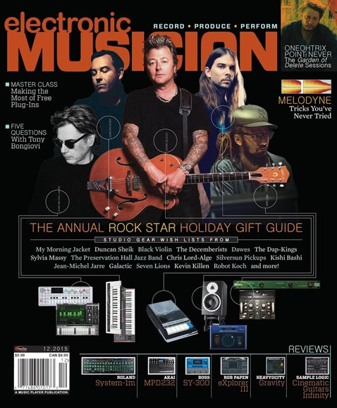 Electronic Musician Cover - 12/1/2015