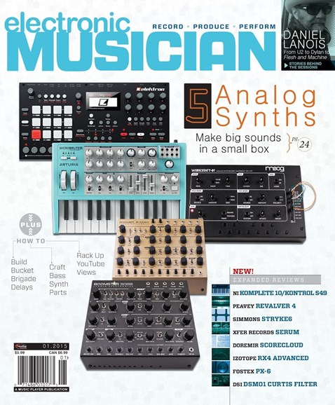 Electronic Musician Cover - 1/1/2015