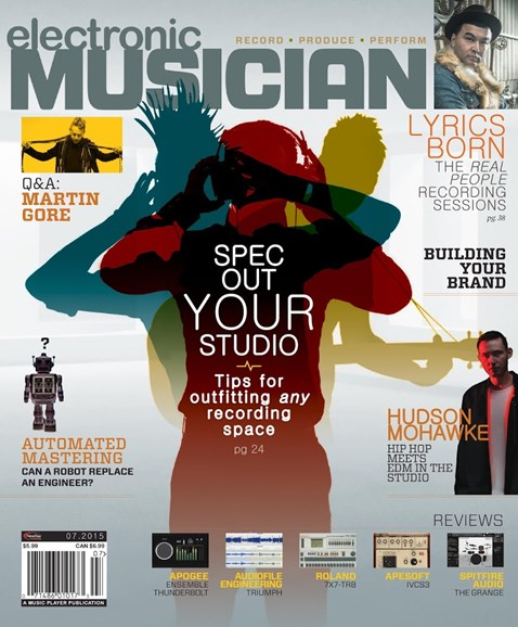 Electronic Musician Cover - 7/1/2015