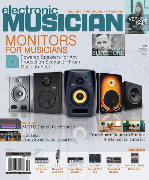 Electronic Musician Cover - 9/1/2015