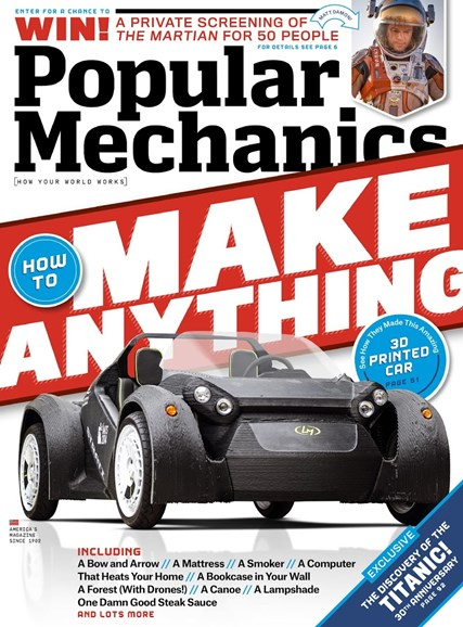 Popular Mechanics Cover - 9/1/2015
