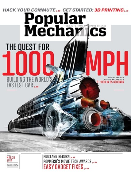 Popular Mechanics Cover - 3/1/2014