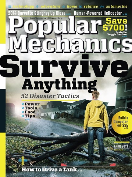 Popular Mechanics Cover - 4/1/2013
