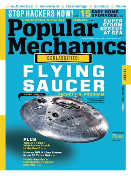 Popular Mechanics Cover - 2/1/2013