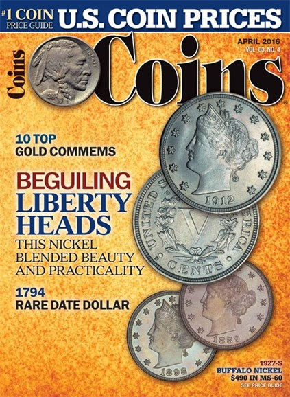 Coins Cover - 4/1/2016
