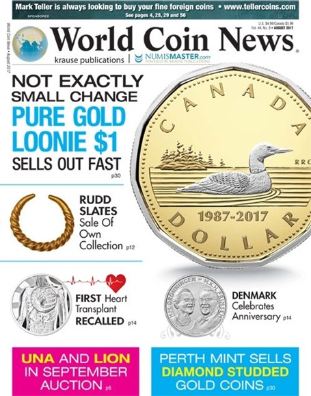 World Coin News Cover - 8/1/2017