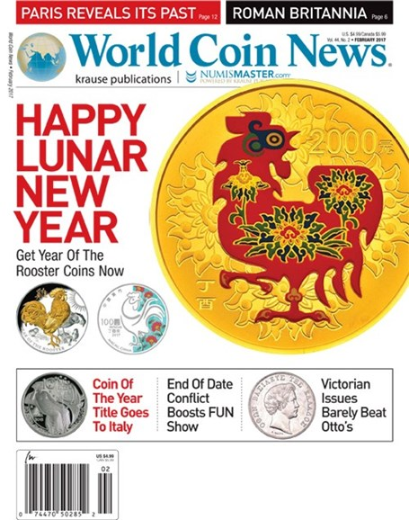 World Coin News Cover - 2/1/2017