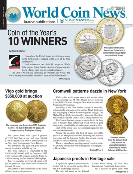 World Coin News Cover - 1/1/2017