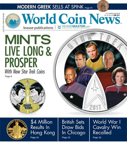 World Coin News Cover - 6/1/2017