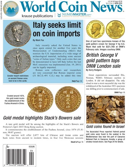 World Coin News Cover - 4/1/2015