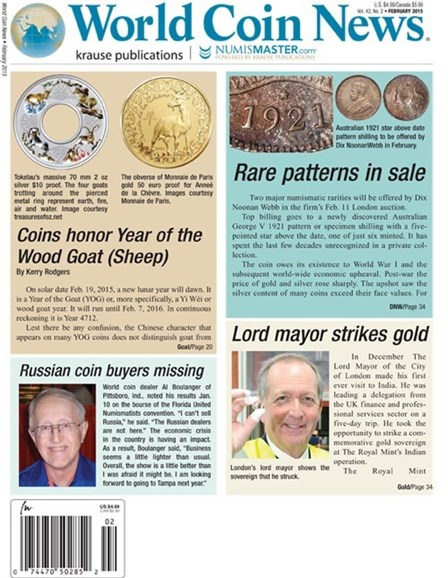 World Coin News Cover - 2/1/2015