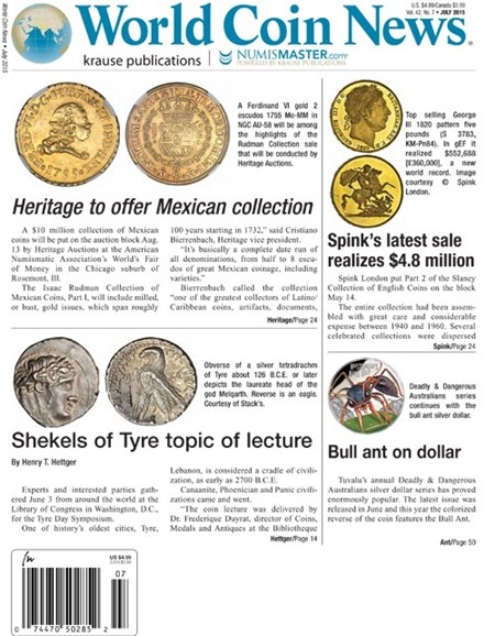 World Coin News Cover - 7/1/2015