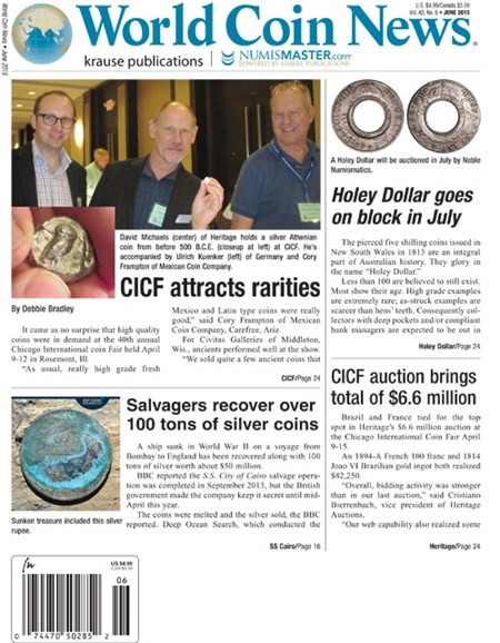 World Coin News Cover - 6/1/2015