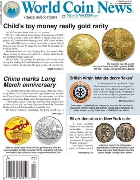 World Coin News Cover - 11/1/2016