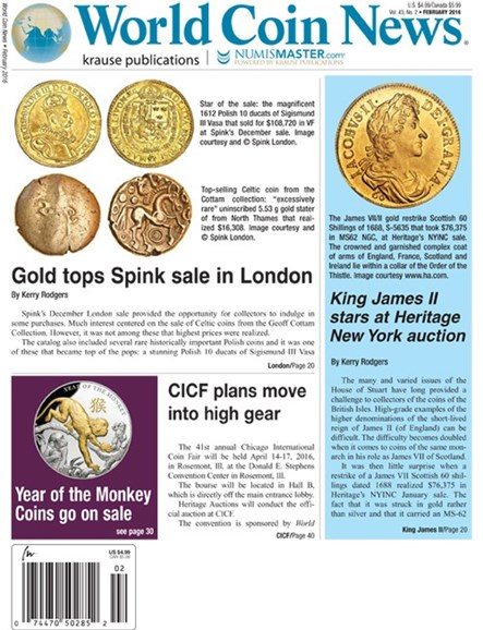 World Coin News Cover - 2/1/2016