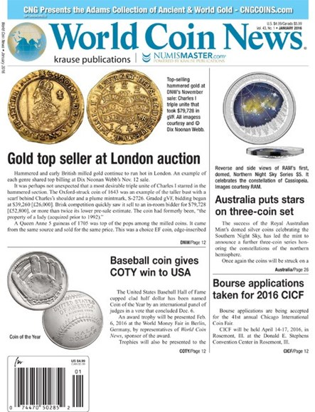 World Coin News Cover - 1/1/2016