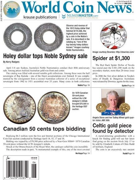 World Coin News Cover - 6/1/2016