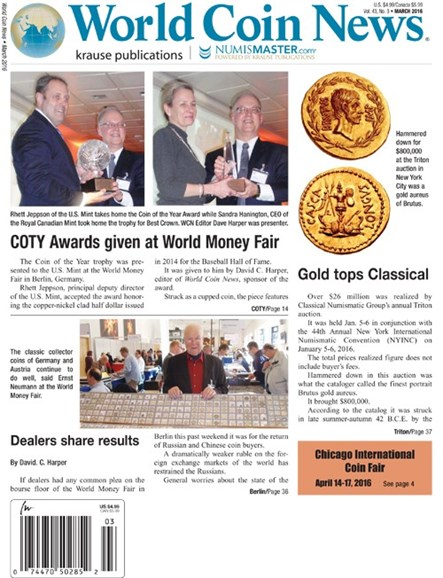 World Coin News Cover - 3/1/2016