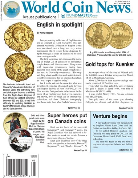 World Coin News Cover - 5/1/2016