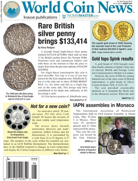 World Coin News Cover - 8/1/2014