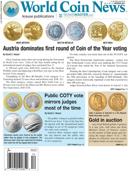 World Coin News Cover - 12/1/2014