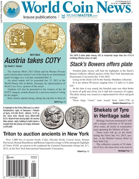 World Coin News Cover - 1/1/2015