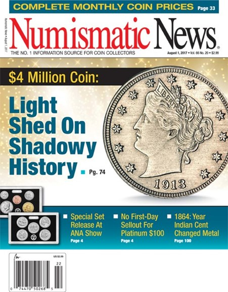 Numismatic News Cover - 8/1/2017