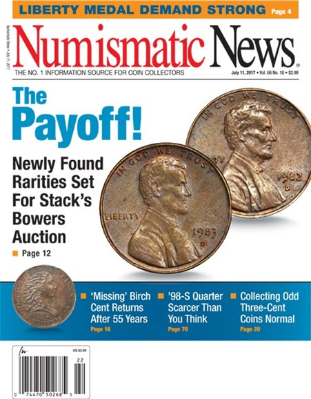 Numismatic News Cover - 7/11/2017