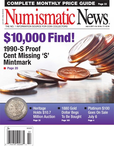 Numismatic News Cover - 7/4/2017