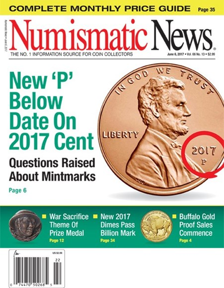 Numismatic News Cover - 6/6/2017
