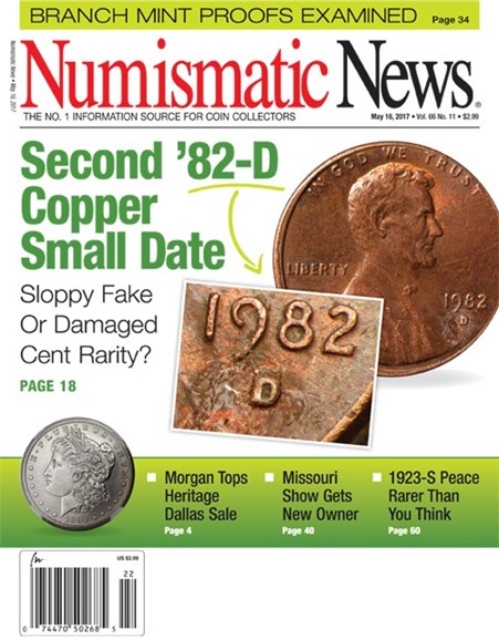 Numismatic News Cover - 5/16/2017