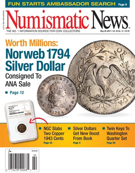 Numismatic News Cover - 5/30/2017