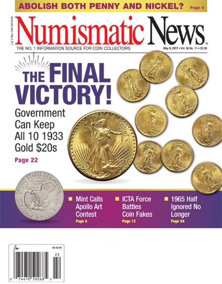 Numismatic News Cover - 5/9/2017