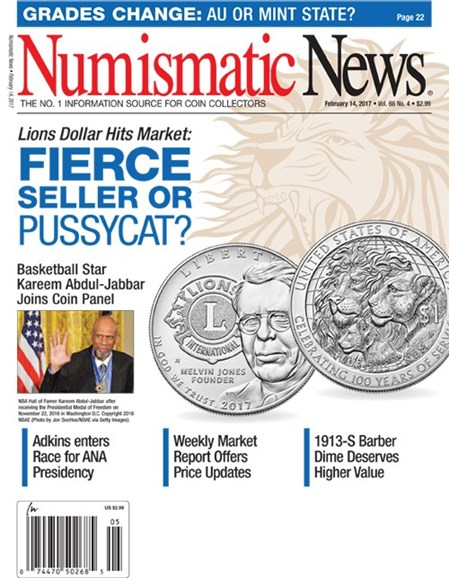 Numismatic News Cover - 2/14/2017