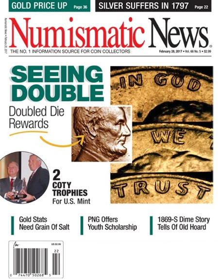 Numismatic News Cover - 2/28/2017