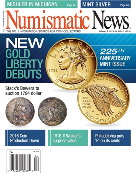 Numismatic News Cover - 2/7/2017