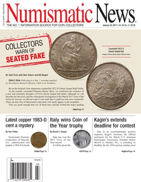 Numismatic News Cover - 1/24/2017