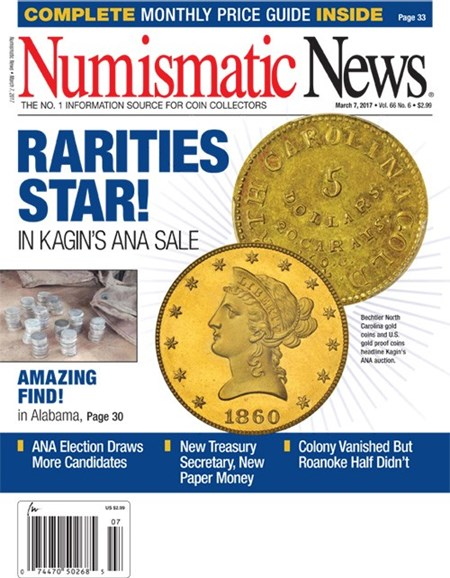 Numismatic News Cover - 3/7/2017