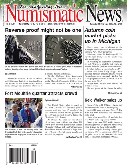 Numismatic News Cover - 12/20/2016