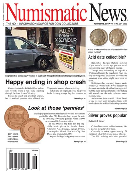 Numismatic News Cover - 11/15/2016