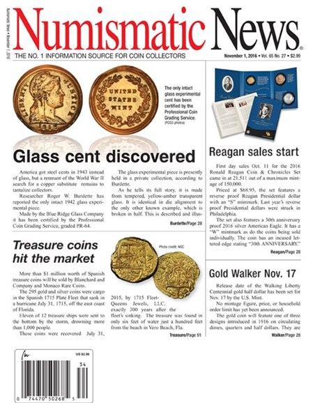 Numismatic News Cover - 11/1/2016