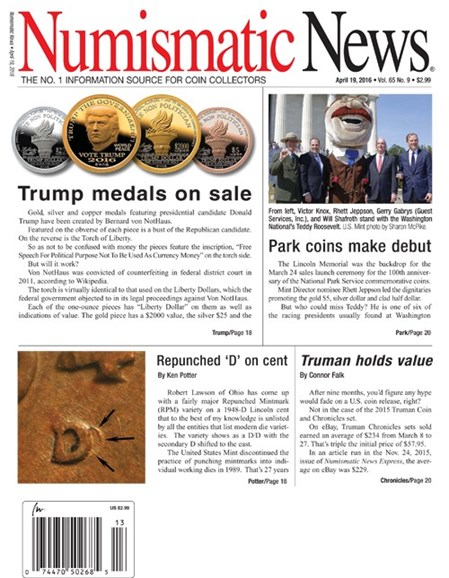 Numismatic News Cover - 4/19/2016