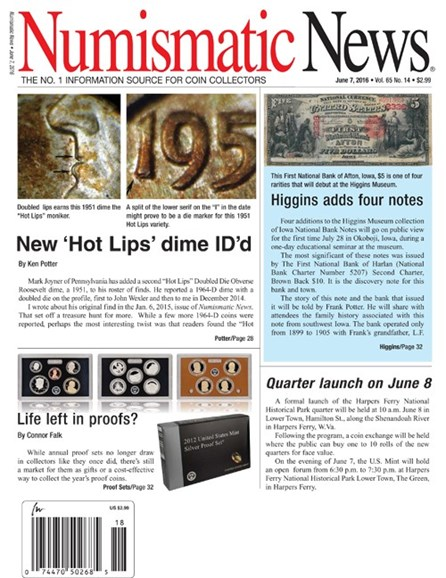 Numismatic News Cover - 6/7/2016