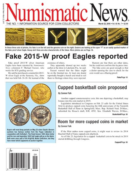 Numismatic News Cover - 3/22/2016